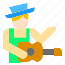artist, guitar, job, man, music, musician, occupation icon
