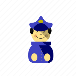 cop, crime, job, police officer, privacy, protection, secure, security icon