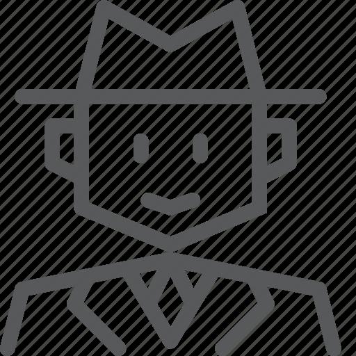 agent, avatar, detective, hat, job, secret, spy, work icon