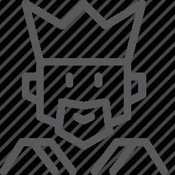 avatar, job, king, monarch, occupation, royalty, throne, work icon
