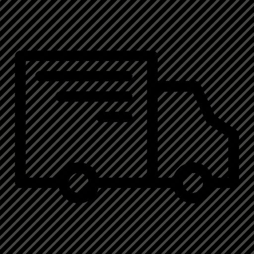 car, delivery, pickup, send, van icon