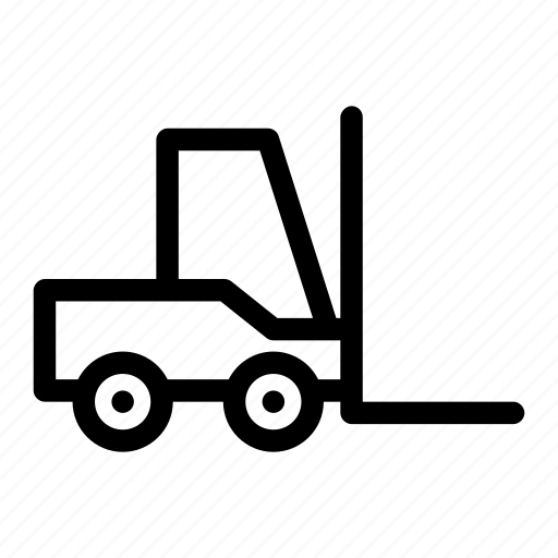 factory, forklift, goods, management, storage icon