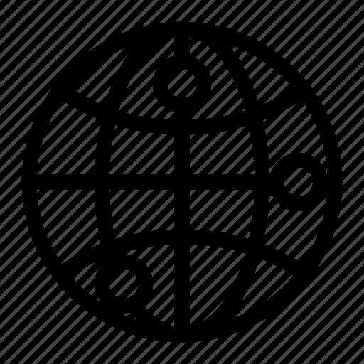 address, earth, globe, point, world icon
