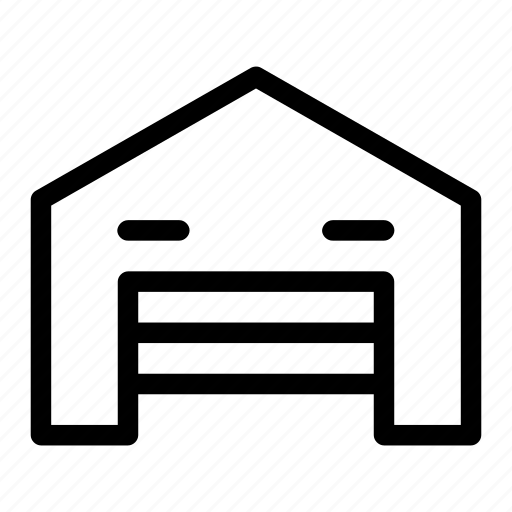 building, factory, garage, house, storage icon