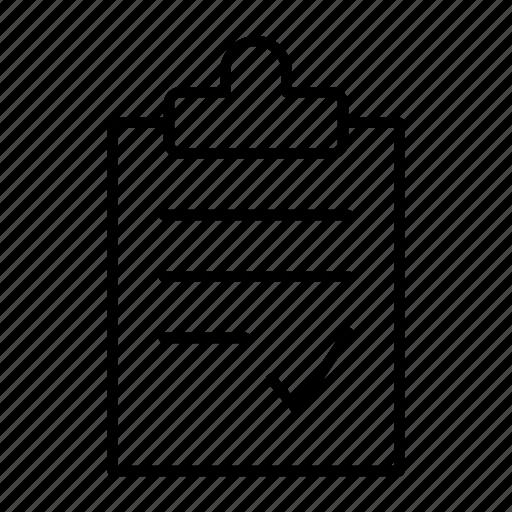 check, clipboard, list, mark, paste icon