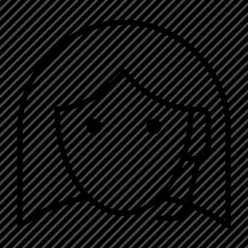 customer, girl, headphone, service, talk icon