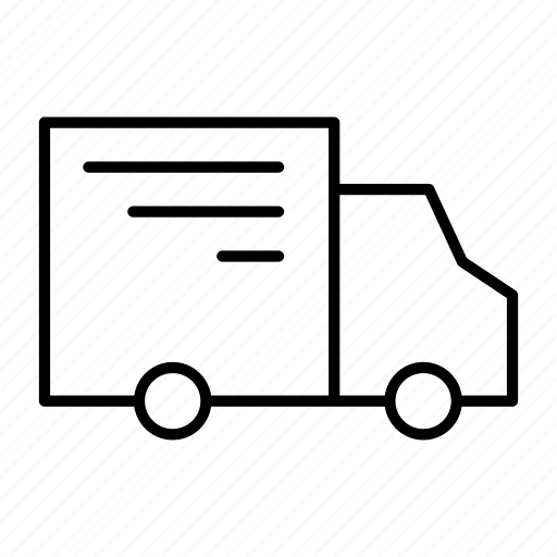 car, deliver, driver, package, van icon