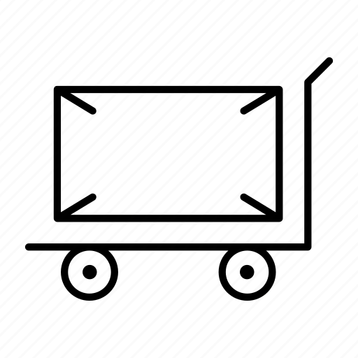 baggage, package, product, send, trolley icon