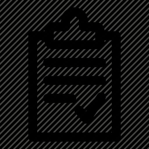 check, clipboard, list, manual, mark icon