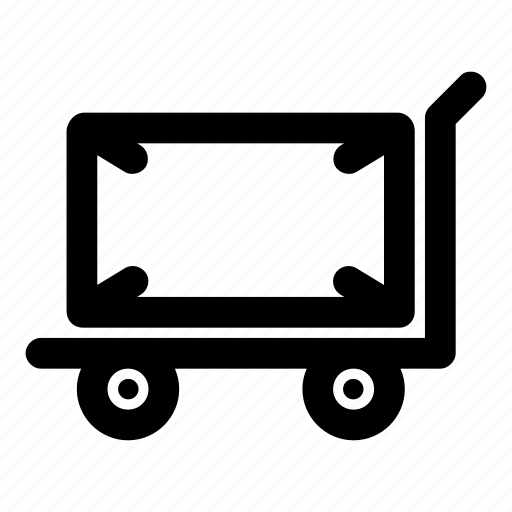 cart, deliver, package, send, trolley icon