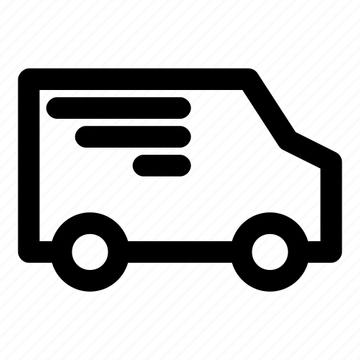 delivery, mail, package, send, van icon