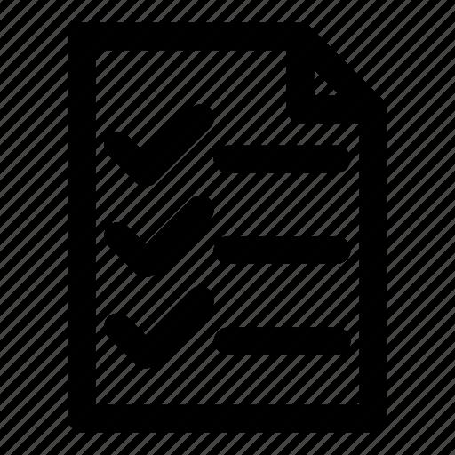 checklist, document, item, paper, work icon