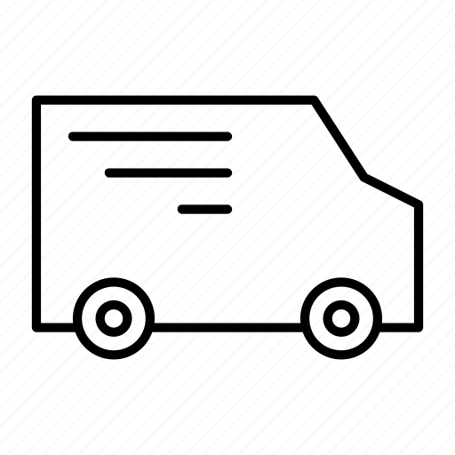 car, delivery, driver, package, van icon