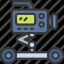camera, dolly, press, studio, video