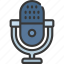 microphone, press, mic, audio, recording