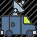 news, van, press, journalist, vehicle