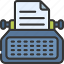 typewriter, press, copywriter, writing