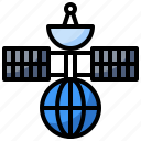 communica, communications, electronics, receiver, satellite, satellites, tiontechnology icon