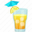 fresh juice, glass of juice, lemon juice, natural drink, summer drink icon