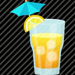 fresh juice, glass of juice, lemon juice, natural drink, summer drink icon
