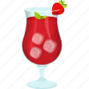 fresh juice, fruit juice, natural drink, strawberry juice, strawberry slice, summer drink icon