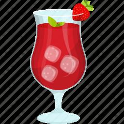 fresh juice, fruit juice, natural drink, strawberry juice, strawberry slice, summer drink icon