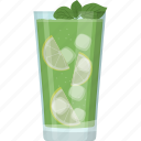 fresh juice, glass of juice, limonana, natural drink, summer drink icon
