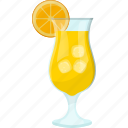 fresh juice, glass of juice, lemonade, natural drink, summer drink icon