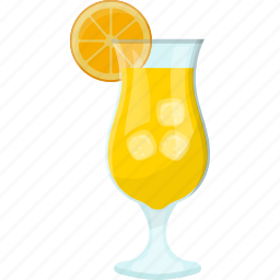 fresh juice, glass of juice, lemonade, natural drink, summer drink icon