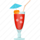 cocktail drink, fresh juice, jamaica everage, natural drink, summer drink icon