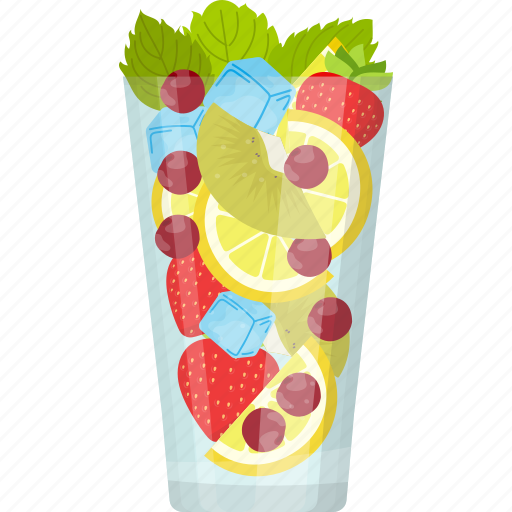 fresh juice, glass of juice, mixed fruit juice, natural drink, summer drink icon