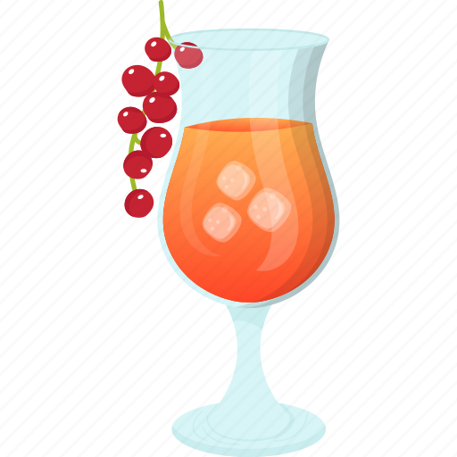 cherry juice, fresh juice, glass of juice, natural drink, summer drink icon