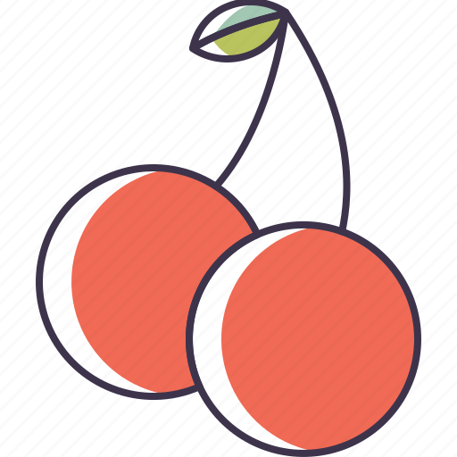 cherries, food, fruit icon