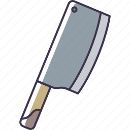 cleaver, kitchen, knife, utensil icon