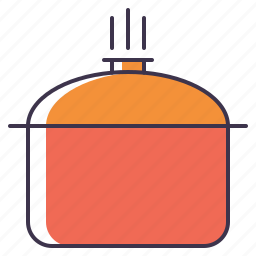 cooking, pot icon