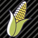 food, vegetable, corn icon