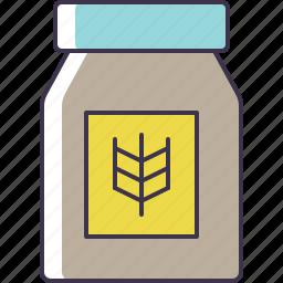 bag, flour, jar icon