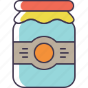 jar, mayo, pickle icon