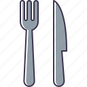 and, fork, knife icon
