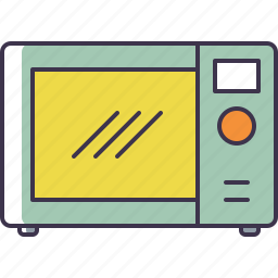 cooking, microwave icon