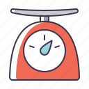 kitchen, scales, utensil icon