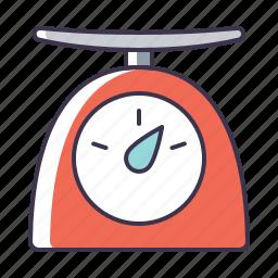 kitchen, scales, utensil icon