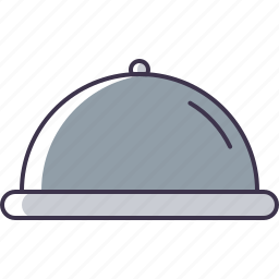 food, kitchen, serving, tray icon