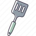 kitchen, metal, spatula, utensil icon