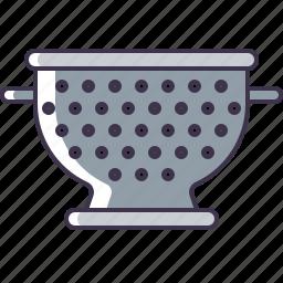 kitchen, strainer, utensil icon