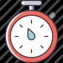 utensil, timer, kitchen icon
