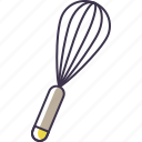 kitchen, utensil, whisk icon