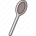kitchen, spoon, utensil, wooden icon