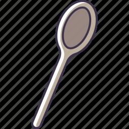 kitchen, spoon, utensil, wooden icon