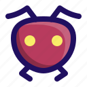 animal, ant, bug, face, insect, wasp icon